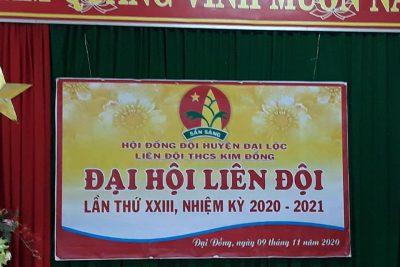 ĐẠI HỘI LIÊN ĐỘI NĂM HỌC 2020-2021