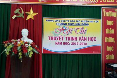 TRƯỜNG THCS KIM ĐỒNG TỔ CHỨC THUYẾT TRÌNH VĂN HỌC NĂM HỌC 2017-2018