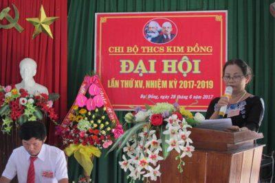 CHI BỘ TRƯỜNG THCS KIM ĐỒNG TỔ CHỨC ĐẠI HỘI CHI BỘ NHIỆM KÌ 2017-2019
